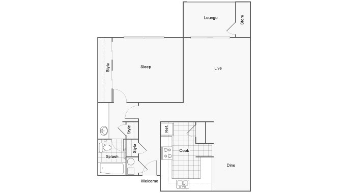 The Social Tallahassee Apartments For Rent Tallahassee FL 32304 Floor Plan