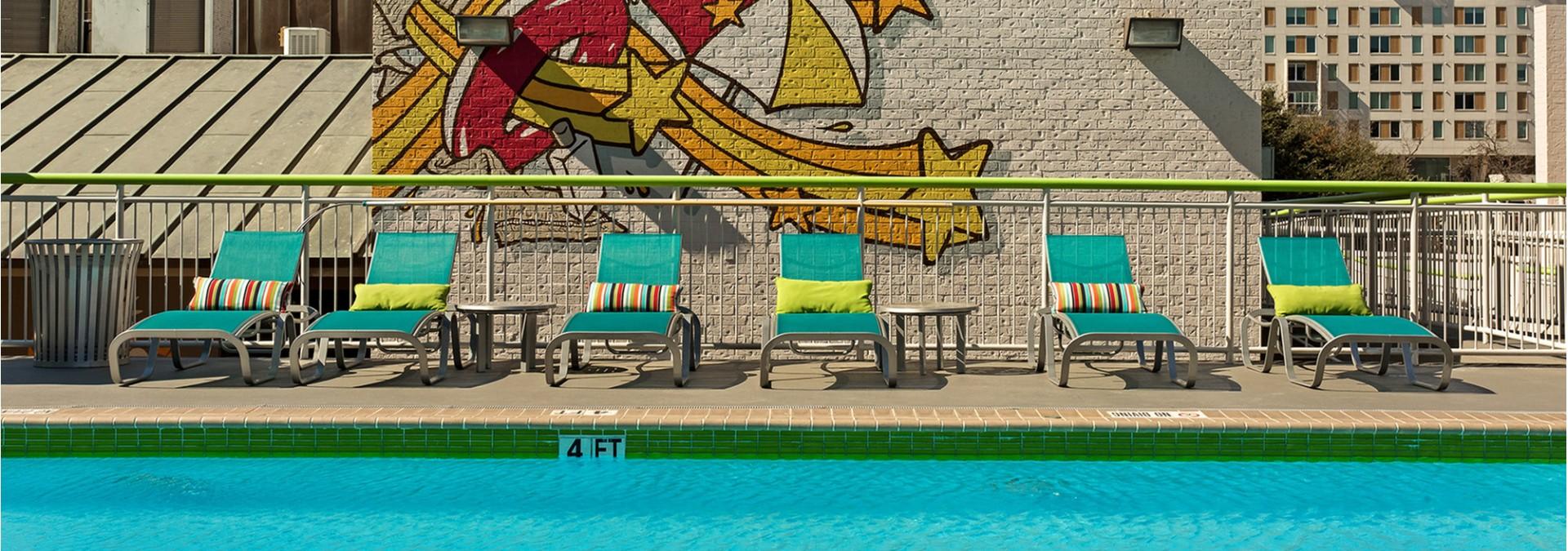 Swimming Pool at Dobie Twenty21 Student Spaces 2