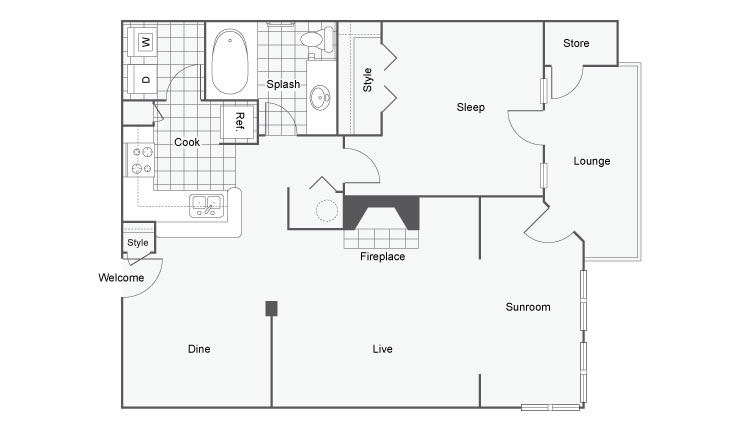 Floor Plan 3 | Apartments For Rent Near Atlanta | Arrive Perimeter