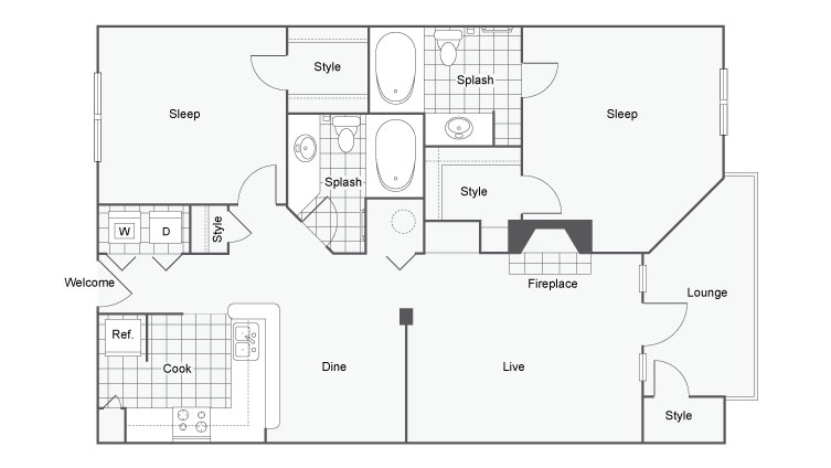Floor Plan 5 | Apartments In North Atlanta | Arrive Perimeter