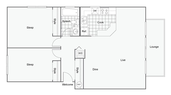 The Hanover Apartment Homes Apartments For Rent SeaTac WA 98188 Floor Plan