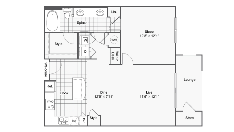 Floor Plan 3 | Apartments In North Atlanta | TwentyNine24 Brookhaven