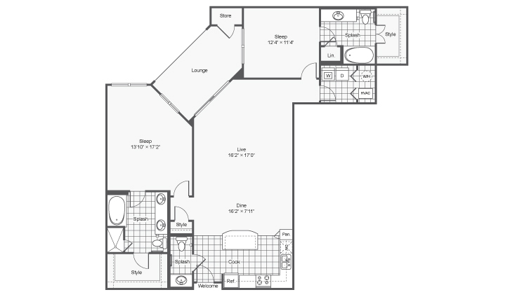 Floor Plan 10 | Apartments In Brookhaven Georgia | TwentyNine24 Brookhaven