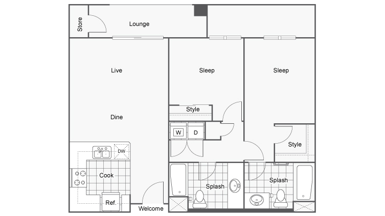 Two Bedroom Apartments San Diego