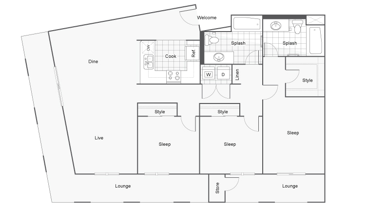 Floor Plan 16 | San Diego Apartments | Arrive Mission Valley