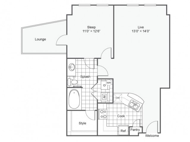 Floor Plan 5 | Dallas TX Luxury Apartments | Arrive West End