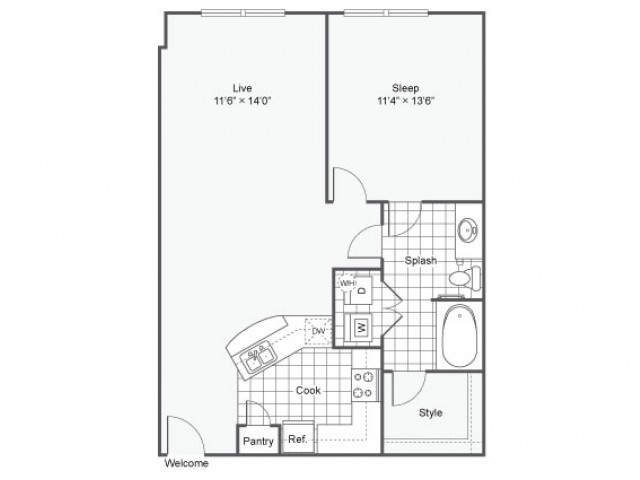 Floor Plan 10 | Dallas TX Luxury Apartments | Arrive West End
