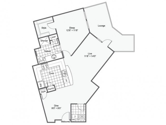 Floor Plan 12 | Apartments Downtown Dallas TX | Arrive West End