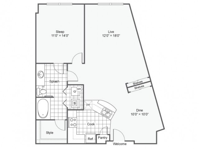 Floor Plan 13 | Downtown Dallas Apartments | Arrive West End