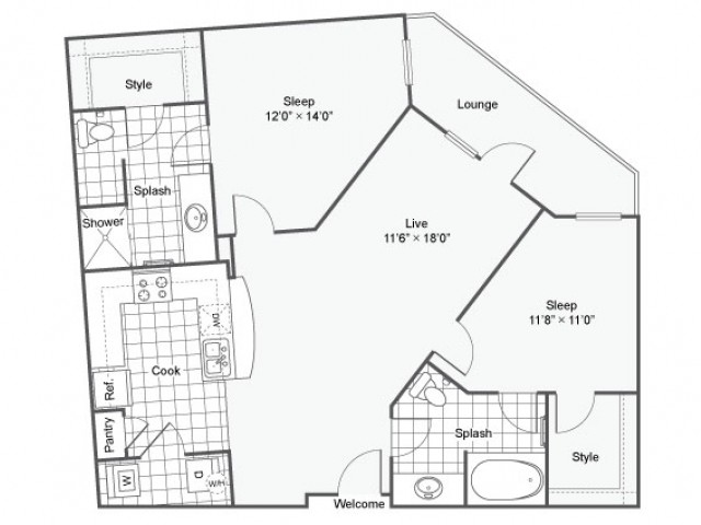 Floor Plan 15 | Dallas TX Luxury Apartments | Arrive West End