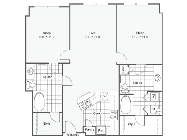 Floor Plan 17 | Apartments Downtown Dallas TX | Arrive West End