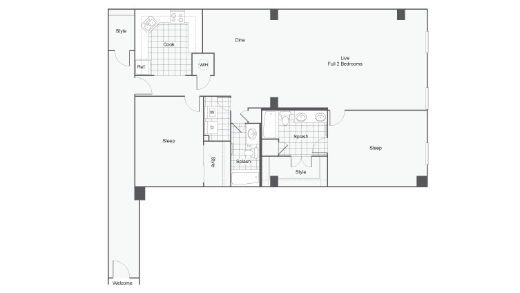 Floor Plan 30 | Atlanta Student Apartments | Dwell ATL