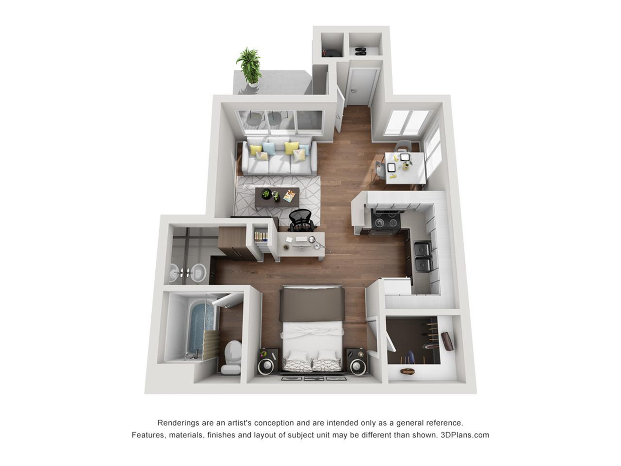 Renew at The Shops | Studio Floorplan