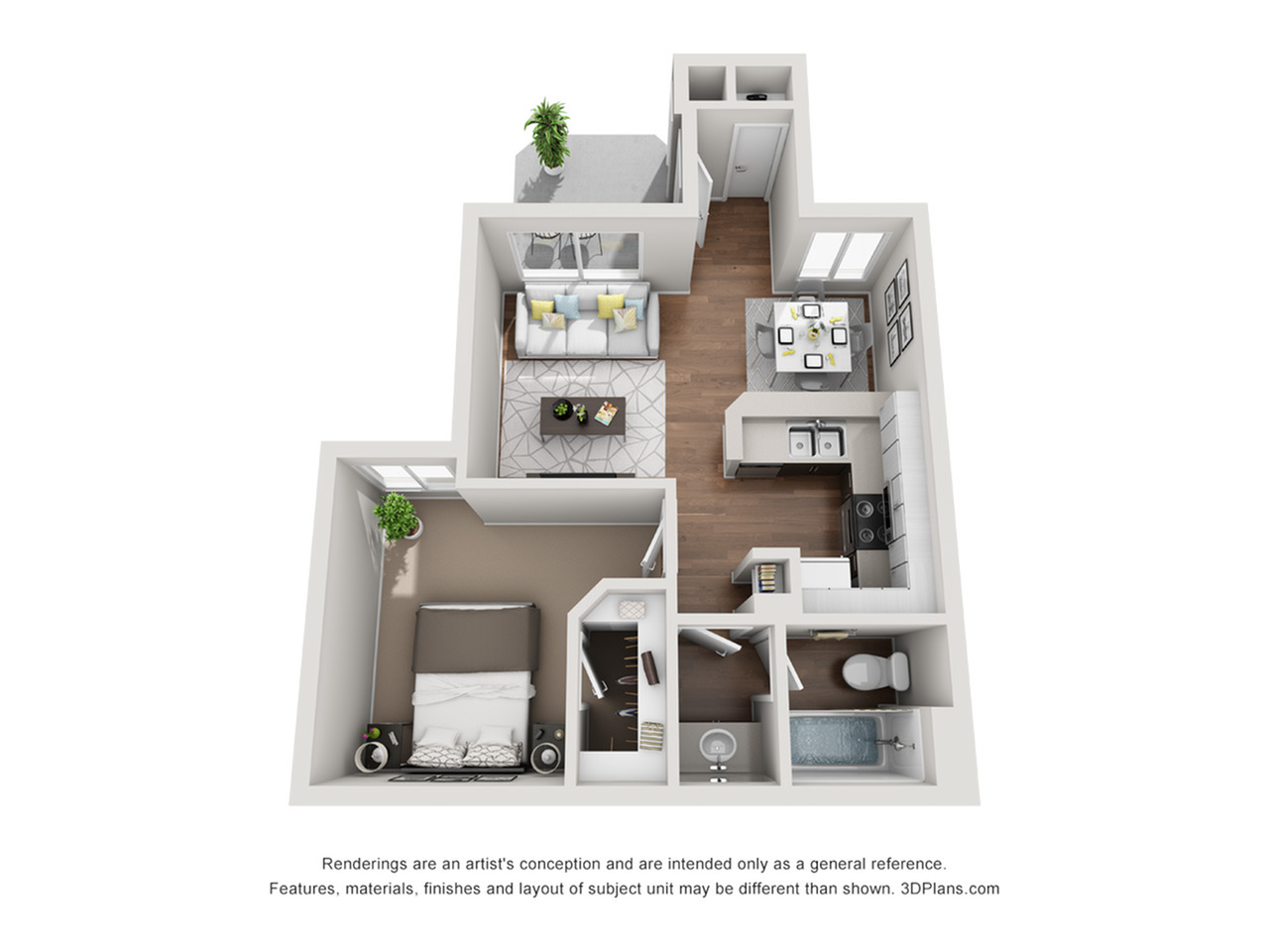 Renew at The Shops | One Bedroom Floorplan 1