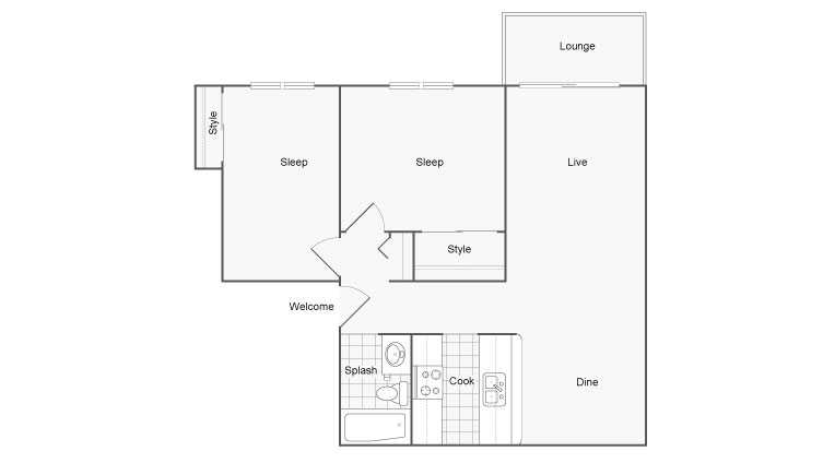 Floor Plan 5 | Port Orchard WA Apartments | The Clubhouse at Port Orchard
