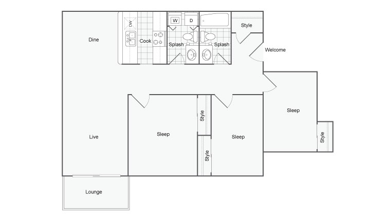 Floor Plan 8 | Apartments In Port Orchard | The Clubhouse at Port Orchard
