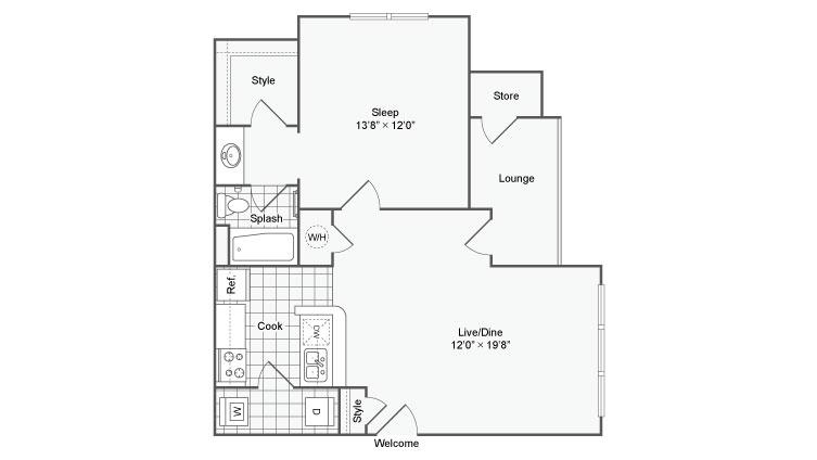 Arrive Buckhead Luxury Apartment Homes for Rent in Atlanta GA 30324 Floor Plan