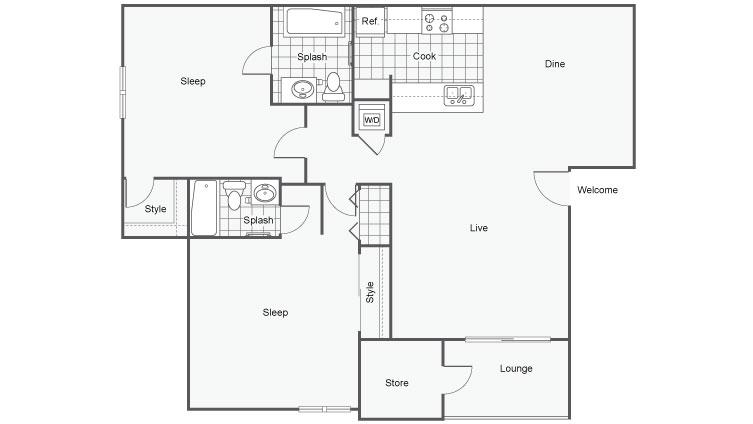 Floor Plan 3 | Falls at Arden