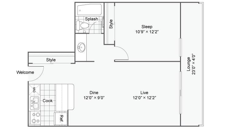 The Croft Apartments For Rent Denver CO 80224 Floor Plan