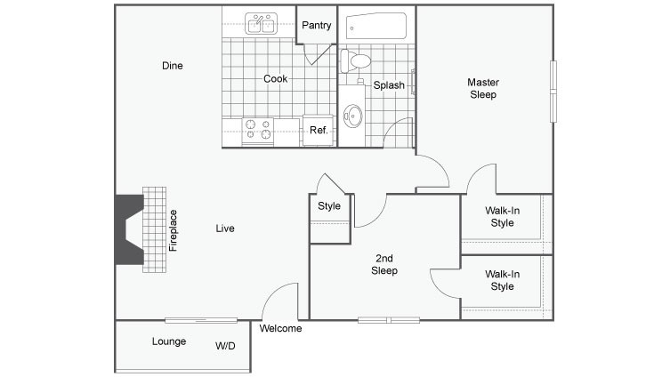 Floor Plan | The Enclave Apartment Homes