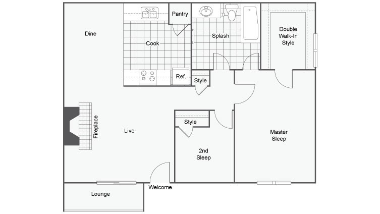 Floor Plan 2 | The Enclave Apartment Homes
