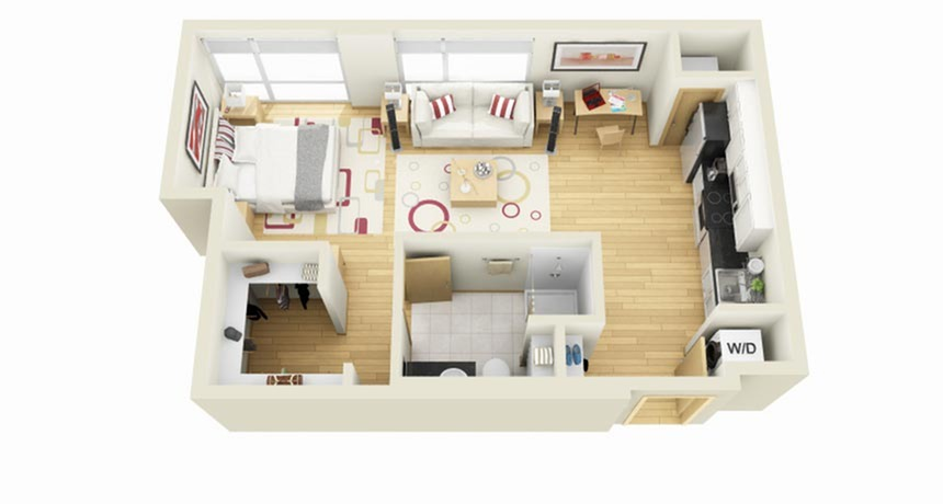 Floor Plan 2 | 1 Bedroom Apartments Minneapolis MN | Solhaus Apartments