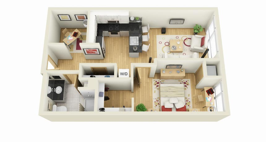 Floor Plan 12 | 1 Bedroom Apartments Minneapolis MN | Solhaus Apartments