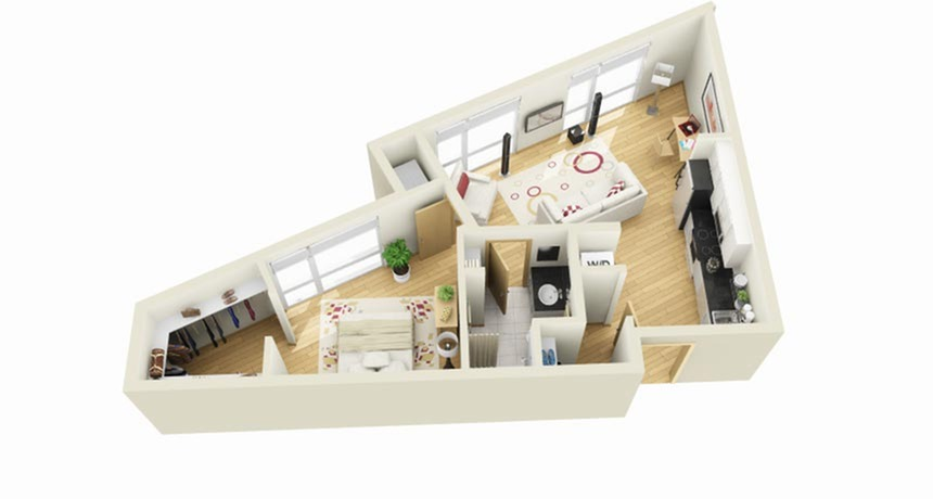 Floor Plan 15 | Minneapolis Apartments Near University Of Minnesota | Solhaus Apartments