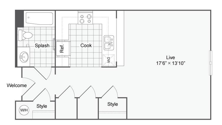 Floor Plan 1 | Apartments In Alamo Heights San Antonio | Arrive Eilan