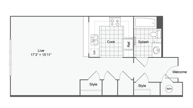 Floor Plan 4 | Alamo Apartments San Antonio TX | Arrive Eilan