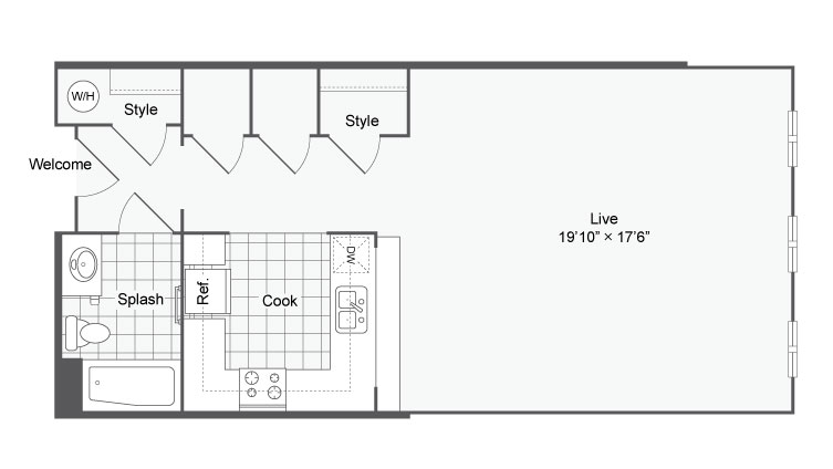 Floor Plan 5 | Apartments In Alamo Heights TX | Arrive Eilan