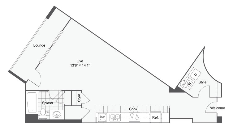 Floor Plan 8   Alamo Heights Luxury Apartments   Arrive Eilan