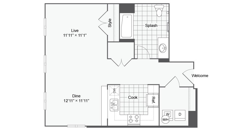 Floor Plan 10 | Apartments In Alamo Heights San Antonio | Arrive Eilan