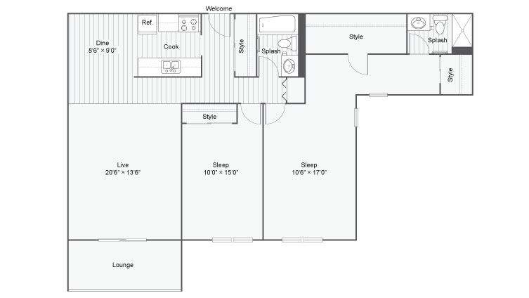 Floor Plan 6 | Eden Prairie Luxury Apartments | ReNew Eden Prairie