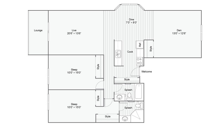 Floor Plan 7 | Eden Prairie MN Luxury Apartments | ReNew Eden Prairie