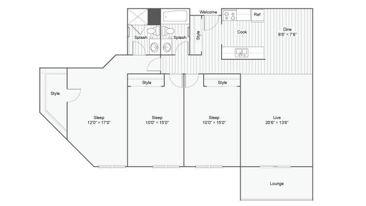 Floor Plan 8 | Apartments Near Eden Prairie MN | ReNew Eden Prairie