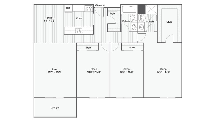 Floor Plan 9 | Apartments Eden Prairie MN | ReNew Eden Prairie