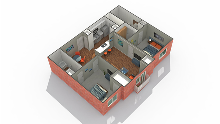Arrive Watertower Apartment Homes for Rent in Eden Prairie MN 55344 Floor Plan
