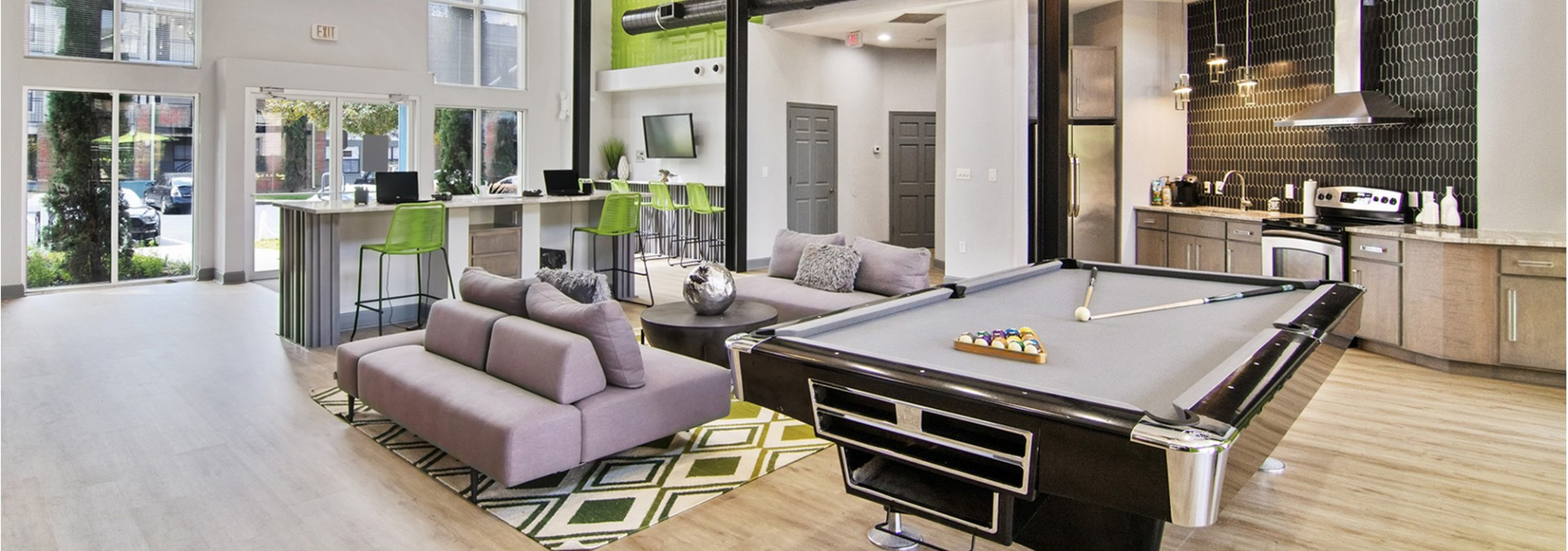 Resident Pool Table | Student Apartments Near FSU | The Social 2700 Student Spaces