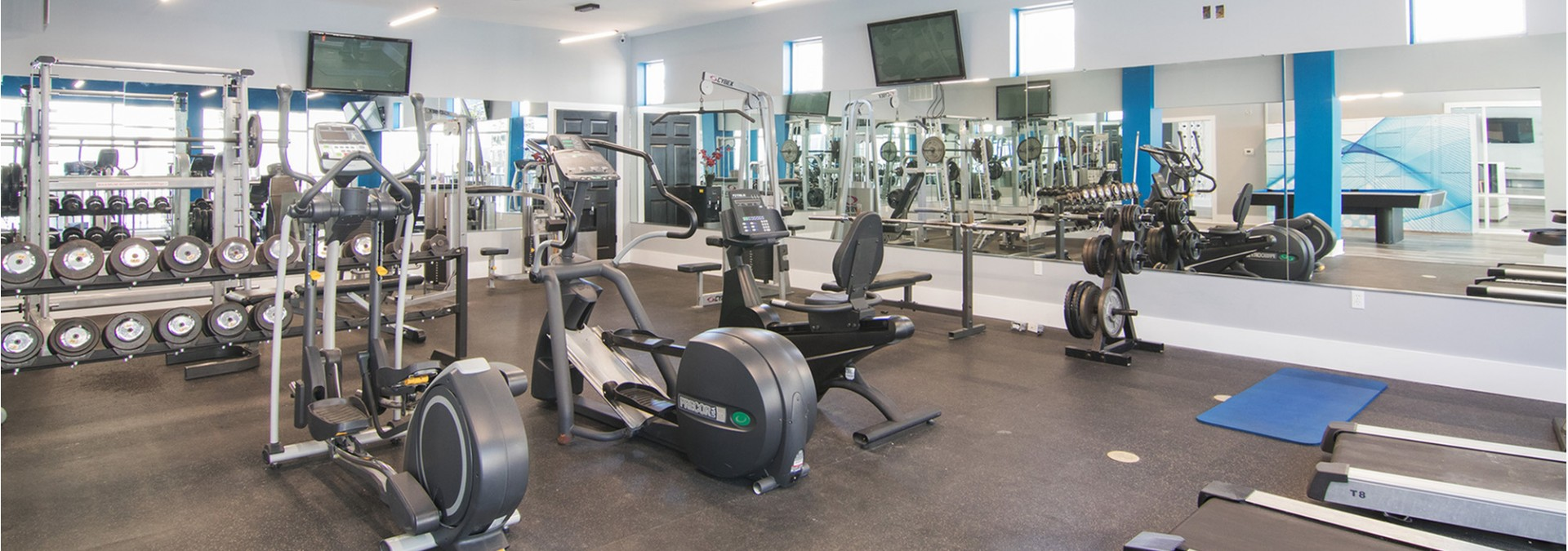 Cutting Edge Fitness Center | Pet Friendly Apartments In Tallahassee | The Venetian Student Living 1