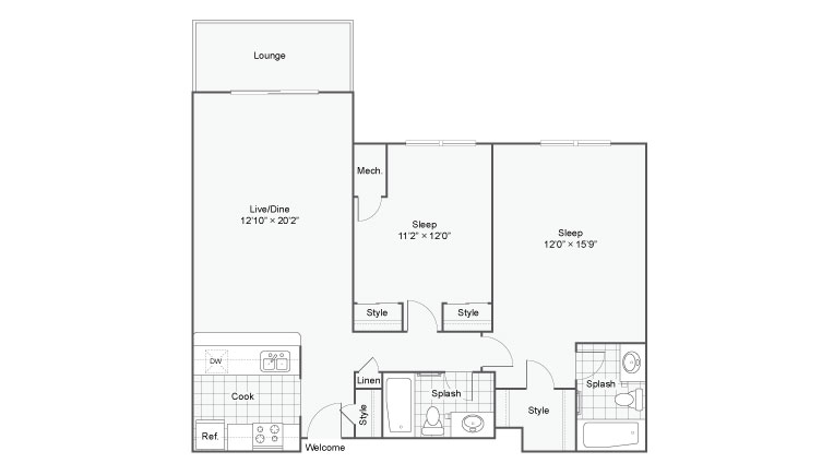 Floor Plan 4 | Luxury Apartments Alexandria VA | Arrive Alexandria