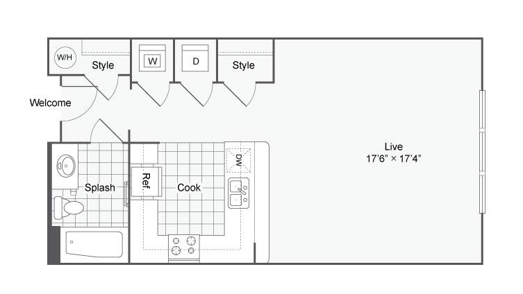Floor Plan 21 | Alamo Apartments San Antonio TX | Arrive Eilan