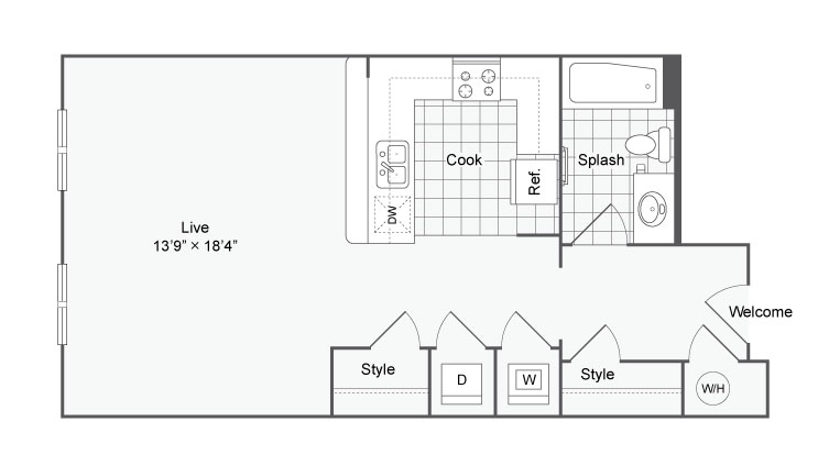 Floor Plan 20 | Alamo Apartments San Antonio TX | Arrive Eilan