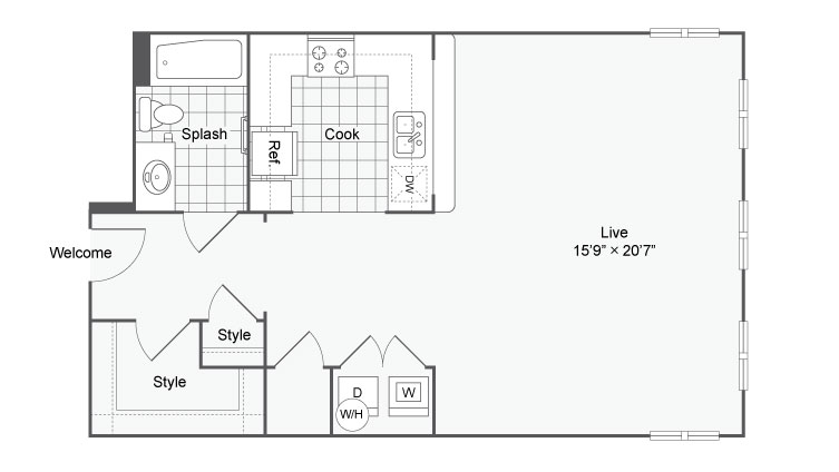 Floor Plan 24 | Alamo Apartments San Antonio TX | Arrive Eilan