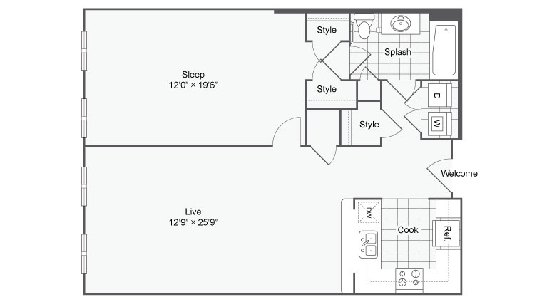 Floor Plan 30 | Alamo Apartments San Antonio TX | Arrive Eilan