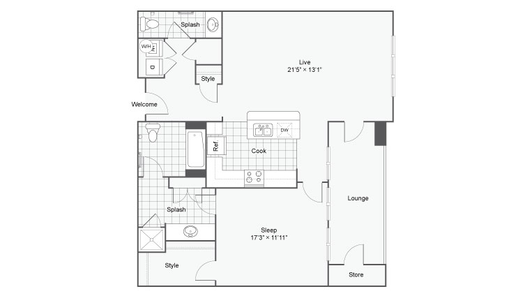 Floor Plan 36| Alamo Apartments San Antonio TX | Arrive Eilan