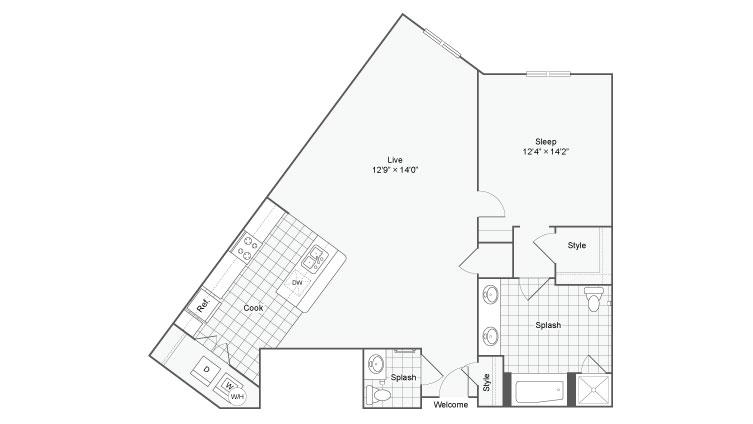 Floor Plan 43| Alamo Apartments San Antonio TX | Arrive Eilan