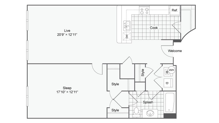 Floor Plan 46| Alamo Apartments San Antonio TX | Arrive Eilan