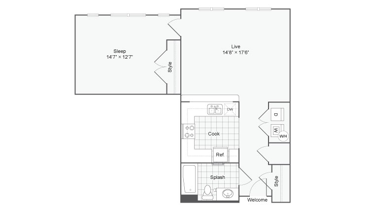 Floor Plan 52| Alamo Apartments San Antonio TX | Arrive Eilan