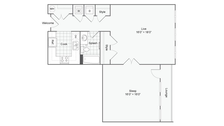 Floor Plan 54| Alamo Apartments San Antonio TX | Arrive Eilan